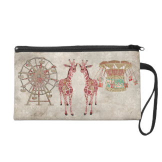 Cotton Candy Giraffes Bagettes Bag Wristlet
