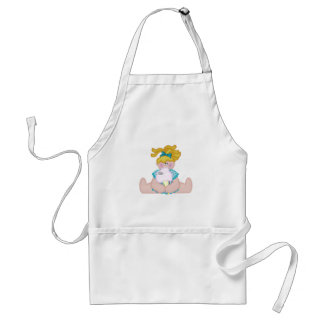 Cotton Candy Girl and Mouse Apron