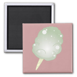 Cotton Candy - Green Square Magnet