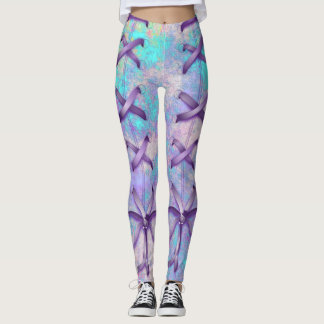 Cotton Candy Laced Print Leggings