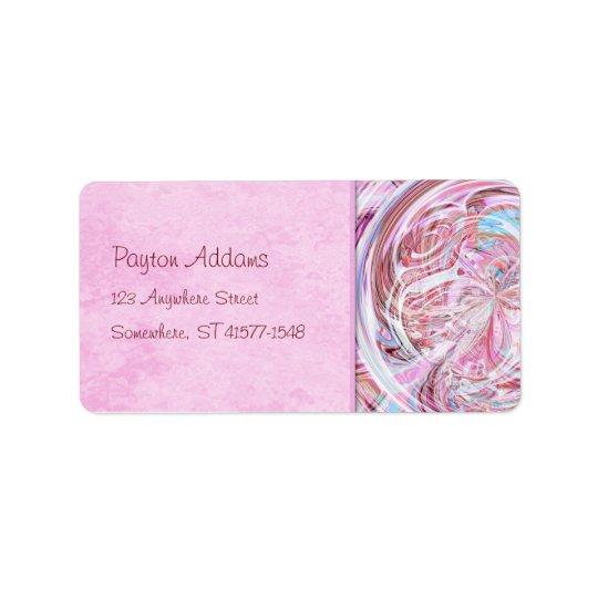 Cotton Candy Mandala Address Avery Label