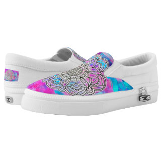 Cotton Candy Mandala ZIPZ Low Top Shoes