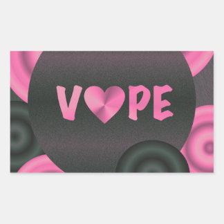 Cotton Candy Pink 3D Vape Heart Rectangular Sticker