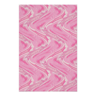 Cotton Candy Pink Abstract Posters