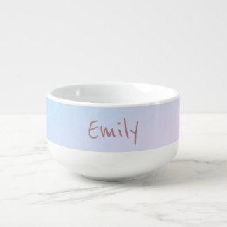 Cotton Candy Pink and Blue Soup Mug