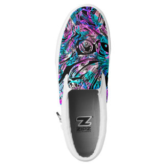 Cotton Candy Pink and Blue swirls ZIPZ Slip-On Shoes