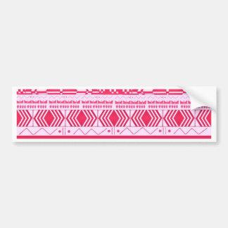 Cotton Candy Pink Aztec Pattern Bumper Sticker