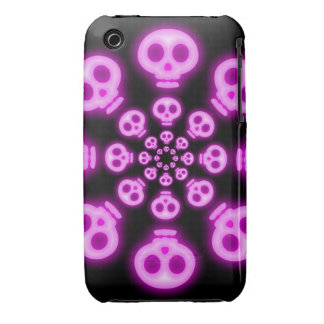 Cotton Candy Pink Skulls 2 iphone 3G 3GS case iPhone 3 Case-Mate Case