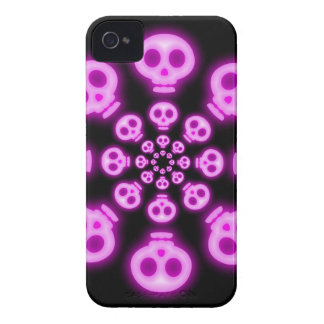 Cotton Candy Pink Skulls 2 iphone 4 case