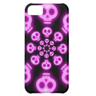Cotton Candy Pink Skulls 2 iphone 5 case
