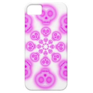 Cotton Candy Pink Skulls iphone 5 case