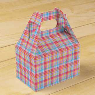 Cotton Candy Plaid Designer Favour Box