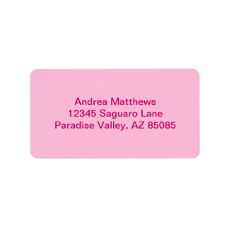 Cotton Candy Solid Color Address Label
