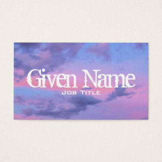 Cotton Candy Sunset Business Card