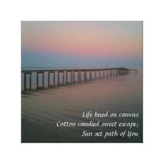 Cotton Candy Sunset Haiku Gallery Wrap Canvas