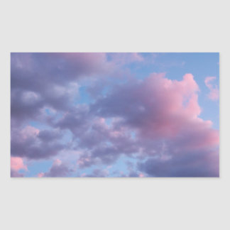 Cotton Candy Sunset Rectangular Sticker