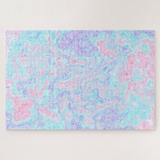 Cotton Candy Swirls Jigsaw Puzzle