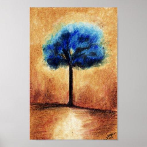 Cotton Candy Tree (Blue) Print