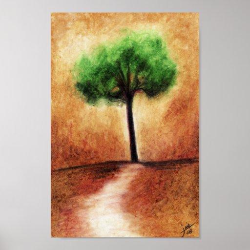 Cotton Candy Tree (Green) Print