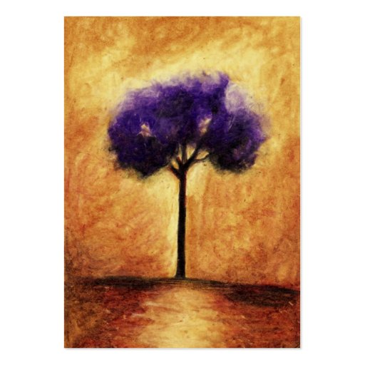 Cotton Candy Tree (Purple) ACEO Art Trading Cards Business Card