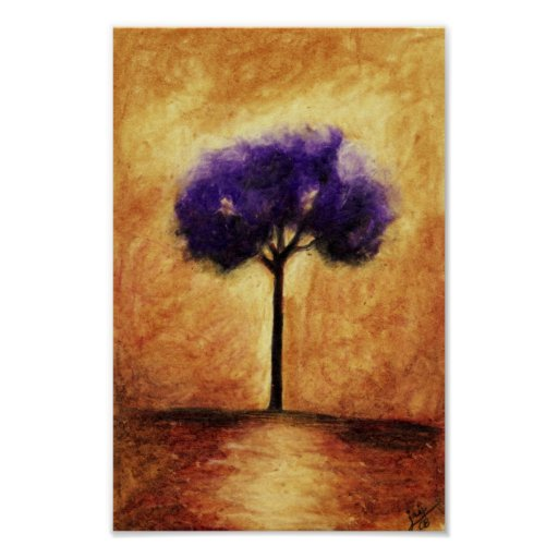 Cotton Candy Tree (Purple) Print