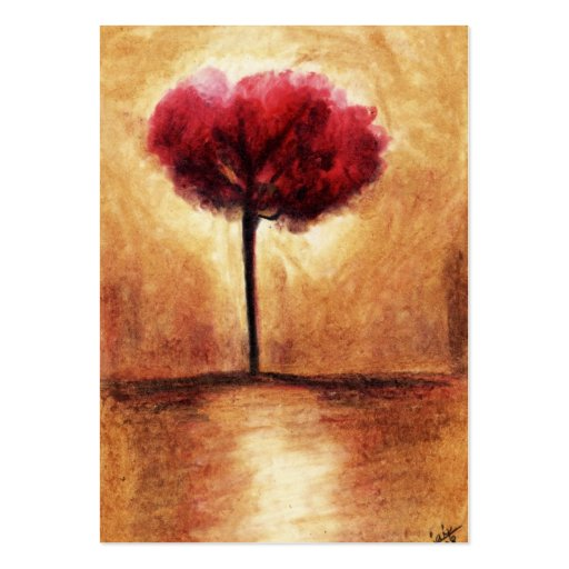 Cotton Candy Tree (Red) ACEO Art Trading Cards Business Card Templates