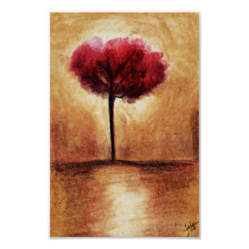 Cotton Candy Tree (Red) Print
