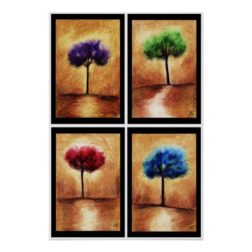 Cotton Candy Trees Print
