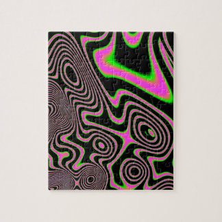 Cotton candy Trippy Abstract Jigsaw Puzzle
