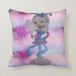 Cotton Candy Twisted Sugar Candy Stick Pillow