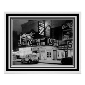 Cotton Club Black and White Poster 16 x 20