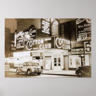 Cotton Club, New York City Vintage Poster