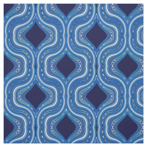 Cotton Fabric-Crafts-Home-Blue & White Fabric