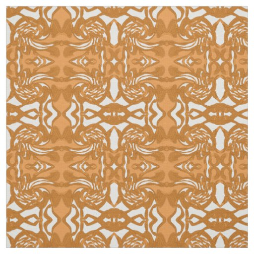 Cotton Fabric-Crafts -Pattern-Carmel/Brown/White Fabric