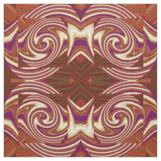 Cotton Fabric - Walled Wave on Purple/White/Green/