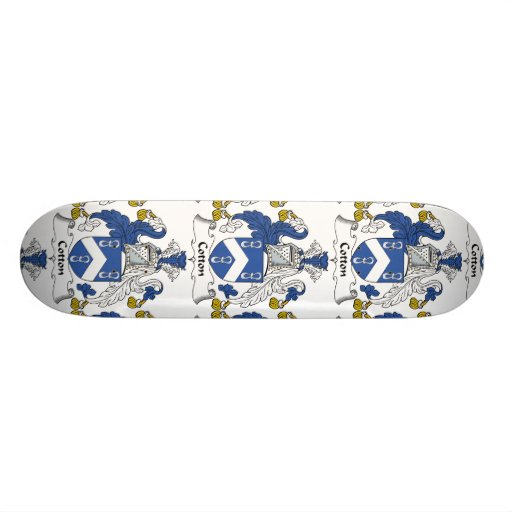 Cotton Family Crest Skate Boards