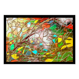 Cotton Grass Abstract Poster