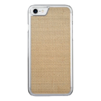 Cotton Linen Background Carved iPhone 7 Case