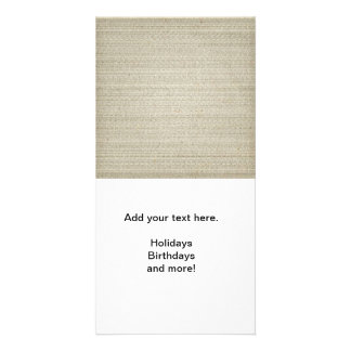 Cotton Linen Background Photo Greeting Card