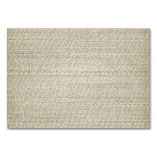 Cotton Linen Background Table Card
