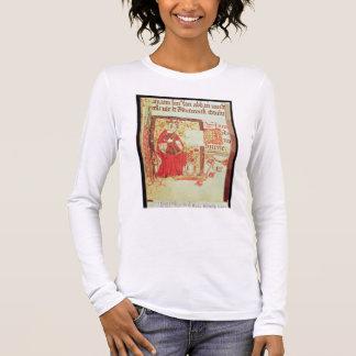 Cotton Nero D VIII fol.7 Queen Matilda holding a c Long Sleeve T-Shirt