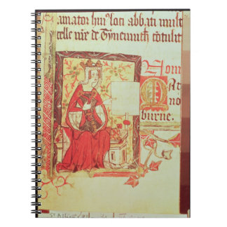 Cotton Nero D VIII fol.7 Queen Matilda holding a c Note Books