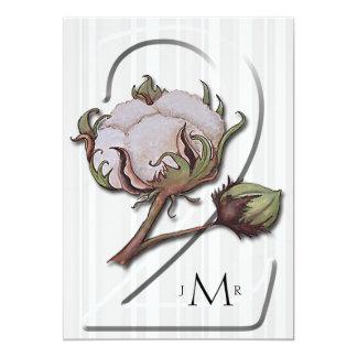 Cotton on Stripe 2nd Wedding Anniversary Card