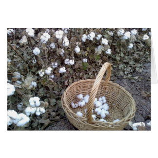 Cotton Pickin' Basket Card