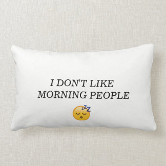 COTTON PILLOW(I DONT LIKE MORNING PEOPLE) AND (HIS LUMBAR CUSHION