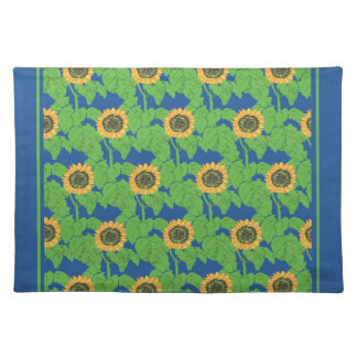 Cotton Placemat, Golden Sunflowers Placemat