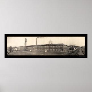 Cotton Spartanburg SC Photo 1909 Poster