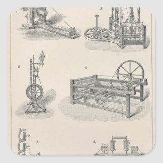 Cotton Spinning I Square Sticker