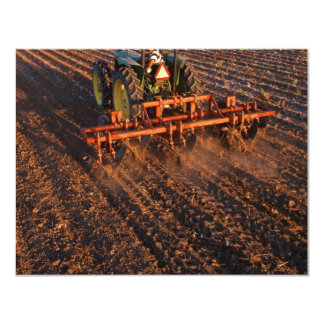 Cotton test field 11 cm x 14 cm invitation card