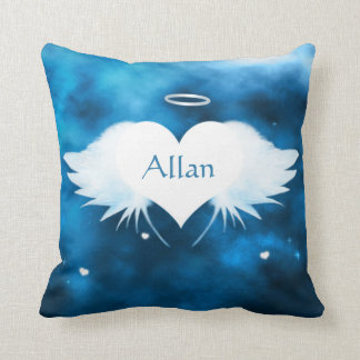Cotton Throw Pillow 16 x 16 - Angel of the Heart Cushions